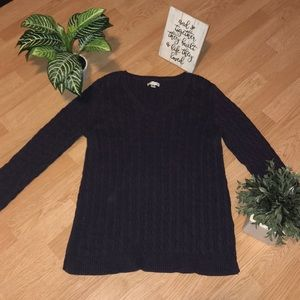 Woman Dark Purple Sweater